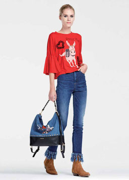 Maglia t-shirt donna Denny Rose art 73dr16009 Primavera 2017