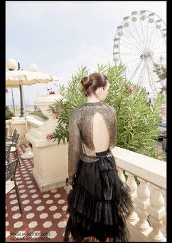 Maglia shirt donna Denny Rose art 822DD50033 Evening Natale 2018/19