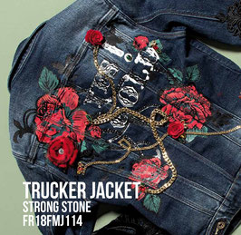 Giubino jeans Jacket denim Donna Fracomina art FR18FPJ114 Autunno 2018/19