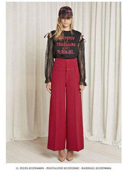 Pantalone donna Denny Rose art 821DD20002 Autunno 2018/19 rosso