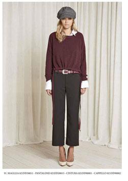 Pantalone donna Denny Rose art 821DD20015 Autunno 2018/19