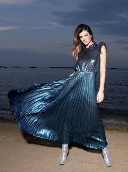 Abito Dress donna Denny Rose art 822DD10052 Evening Natale 2018/19 col blu