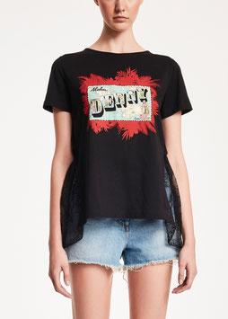 T-shirt maglia donna Denny Rose art 912DD60029 Estate 2019 variante colore NERO