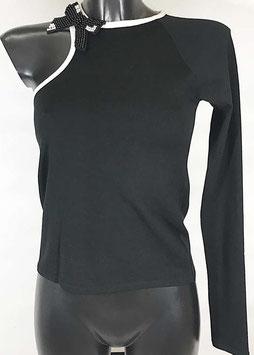Maglia manica lunga donna Denny Rose art 811DD50013 Primavera 2018  colore nero
