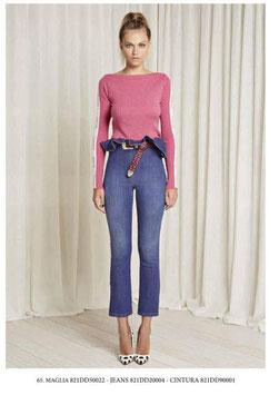 Pantalone donna Denny Rose art 821DD20004 Autunno 2018/19 colore jeans