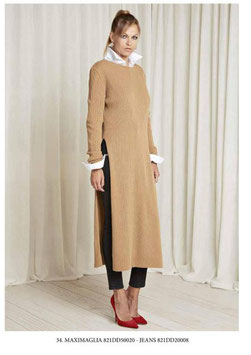 Abito Dress in maglia donna Denny Rose art 821DD50020 Autunno 2018/19