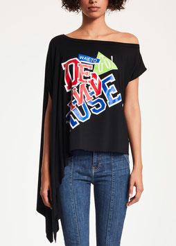 T-shirt maglia donna Denny Rose art 912DD60027 Estate 2019 variante colore NERO