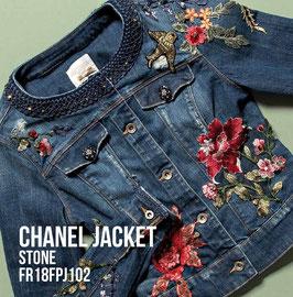 Giubino jeans Jacket denim Donna Fracomina art FR18FPJ102 Autunno 2018/19