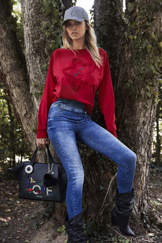 Pantalone denim donna Denny Rose art 821ND26002 Autunno 2018/19