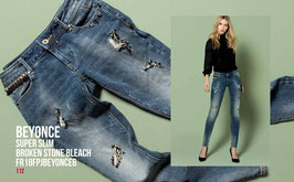 Jeans denim Donna Fracomina art FR18FPJBEYONCE6 Autunno Inverno 2018/19