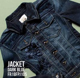 Giubino jeans Jacket denim Donna Fracomina art FR18FPJ105 Autunno 2018/19
