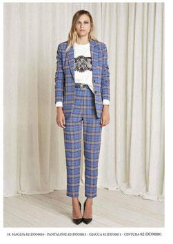 Pantalone donna Denny Rose art 821DD20013 Autunno 2018/19 colore blu
