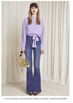 Pantalone donna Denny Rose art 821DD20005 Autunno 2018/19  colore jeans