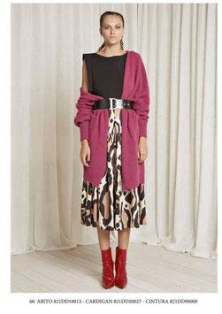 Cardigan in maglia donna Denny Rose art 821DD50027 Autunno 2018/19 colore fuxia