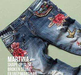 Jeans denim Donna Fracomina art FR18FPJMARTINA8 Autunno Inverno 2018/19