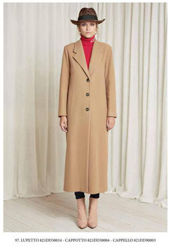 Giacca cappotto lungo donna Denny Rose art 821DD30004 Autunno 2018/19 variante colore cammello
