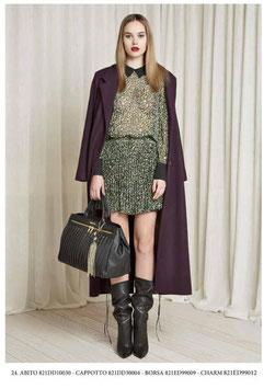 Giacca cappotto lungo donna Denny Rose art 821DD30004 Autunno 2018/19 variante colore viola
