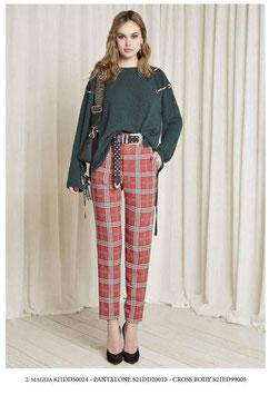 Pantalone donna Denny Rose art 821DD20013 Autunno 2018/19 colore rosso