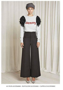 Pantalone donna Denny Rose art 821DD20002 Autunno 2018/19 nero