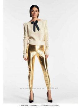 Pantalone oro donna Denny Rose art 722DD20042 Autunno Inverno 2017 2018
