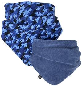 Sjaaltje Camouflage blauw