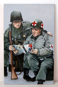 Brother's in arms,  twee WW2 soldaten. Vriendschap, strijd & comics