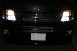 ハイエース 200系  H4ヘッドライト 2灯式→HID4灯 変換 ハーネス