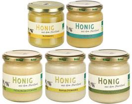 Bio Honig Probierset 5 x 250g