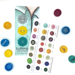 BottleCapButton grey/yellow/aqua