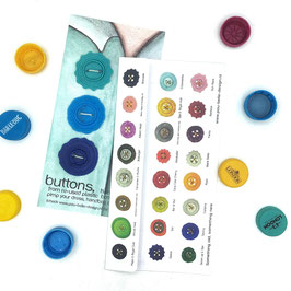 BottleCapButton triple blue