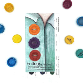 BottleCapButtons orange/purple/red