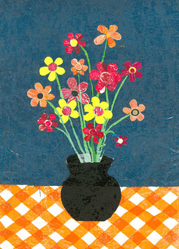 Giftcard A6    Flowers in vase