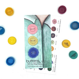 BottleCapButton pink/yellow/purple