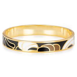 """""""Monét"""" - Moderner Emaille Armreif in Gold"""