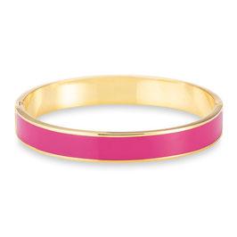 """Nobile"" - vergoldete Armreif in Pink Emaille"