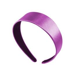 """Haarreif """"CinCin"""" -  Satin flach und breit in Violett"""