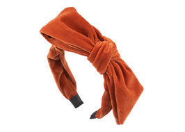 "Haarreif ""Velvet Bow""- Samt mit Schleife in Orange"