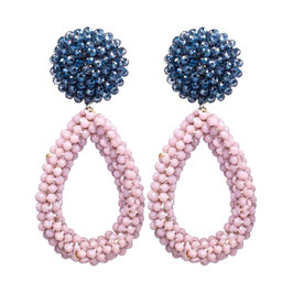 "Ohrclips ""Lavender Blue"" aus Kristall in zartem Violett"