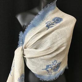Schal Blaue Blume