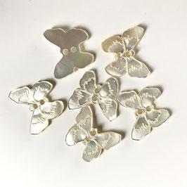 Perlmuttknopf in Schmetterlingsform