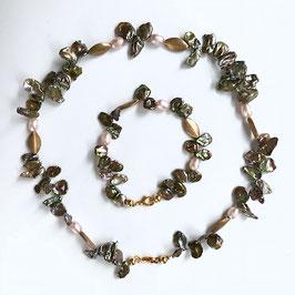 Schmuckset Oliv Perlen