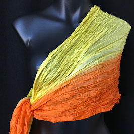 Crash-Schal Zitrus