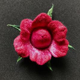Brosche Filz Rose