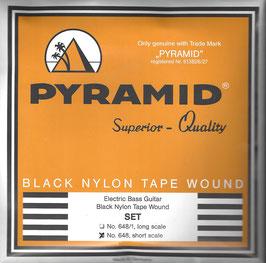 Pyramid Black Tape Nylon Flatwound, Short Scale (Art.Nr.648)