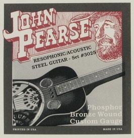 John Pearse Resophonic Guitar Phosphor Bronze G Tuning, .016 - .056, 3025 (BEJS)