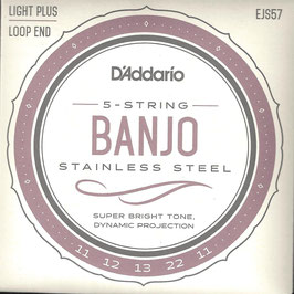 D'Addario Banjo 5 Strings  Stainless Steel Wound (EJS 57)
