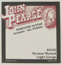John Pearse® Baritone Acoustic Guitar 80/20 Bronze, .015 - .068, 3260L