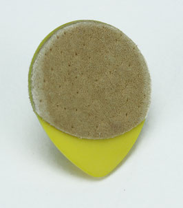 Dunlop Tortex Tear Drop Plektrum 073 mm Wildleder Grifffläche
