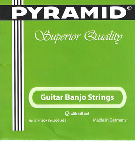 Pyramid Guitar Banjo Saiten Ball End Set. 514 100K