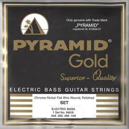 Pyramid Chrome Nickel Flatwound Saiten, Long Scale (Art.Nr.640/A)